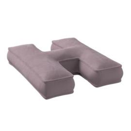 Velvet Letter Pillow | Old Pink / Purple