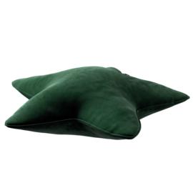 Velvet Star Pillow - Green