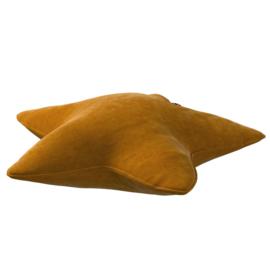 Velvet Star Pillow - Rust / Cognac