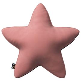 Velvet Star Pillow - Old Pink