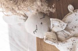 Bunny  Cuddle Cloth   Beige Flowers