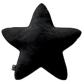 Velvet Star Pillow - Black