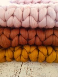 Merino Wool Blanket  Ochre