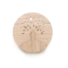 Houten wandlampje TREE - Ted & Tone