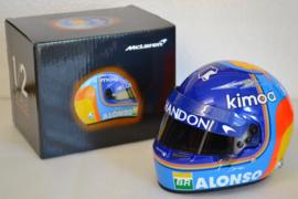 Fernando Alonso Mc Laren Renault helmet 2018 season