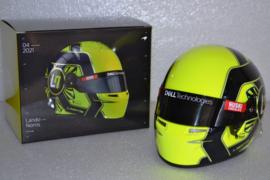 Lando Norris Mc Laren Mercedes mini helmet 2021 season
