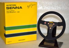 Ayrton Senna Lotus Renault steering wheel 1985 season