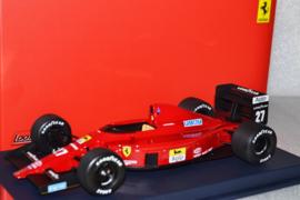 Nigel Mansell Ferrari F1 640 race car Hungarian Grand Prix 1989 season