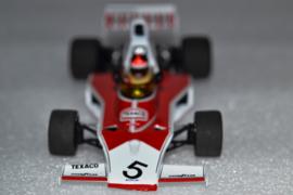 Emerson Fittipaldi Mc Laren Ford M23 race car World Champion 1974 season