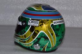 Felipe Massa Williams Mercedes helmet almost last race 2016 season