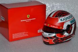 Charles Leclerc Scuderia Ferrari helmet Belgian Grand Prix 2019 season