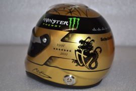 Michael Schumacher Mercedes AMG Petronas helmet Belgian Grand Prix 2011 season