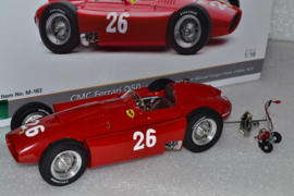 Juan Manuel Fangio & Peter Collins Ferrari D50 Race Car Italian Grand Prix World Champion 1956 Season
