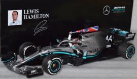 Lewis Hamilton Mercedes AMG Petronas MGP-W10 race car British Grand Prix 2019 season