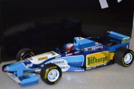 Michael Schumacher Benetton Renault B195 race car Pacific Grand Prix 1995 season