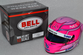 Esteban Ocon Force India Mercedes helmet 2018 season