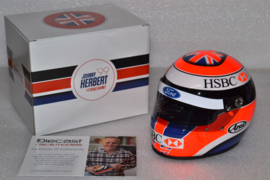 Johnny Herbert Stewart Ford helmet 1999 season signed
