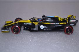 Fernando Alonso Renault DP F1 Team RS20 race car Barcelona testing 2020