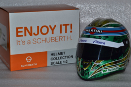 Felipe Massa Williams Mercedes helmet almost last race 2016 season