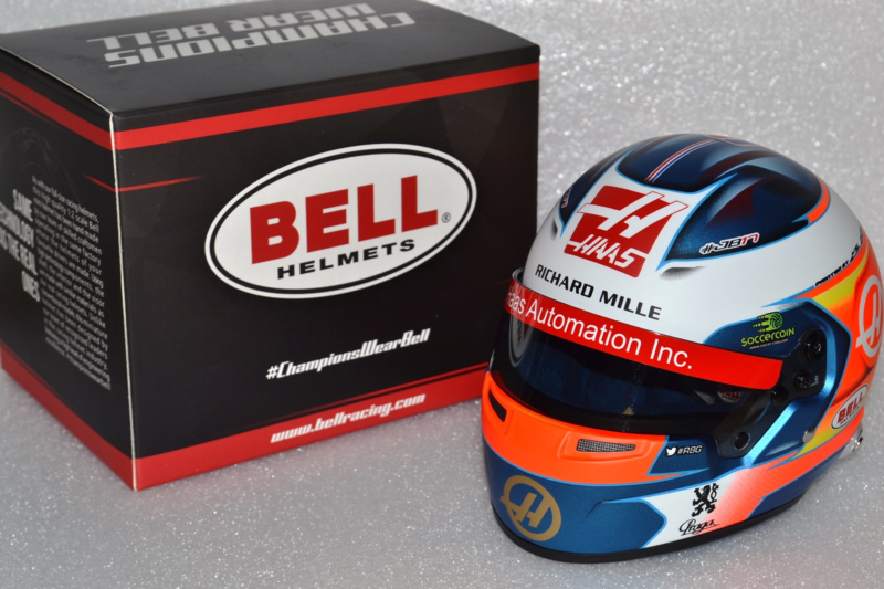 Romain Grosjean HAAS Ferrari helmet 2019 season
