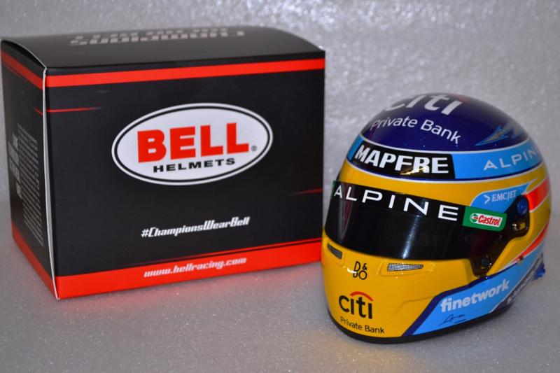 Fernando Alonso Alpine F1 Team helmet 2021 season