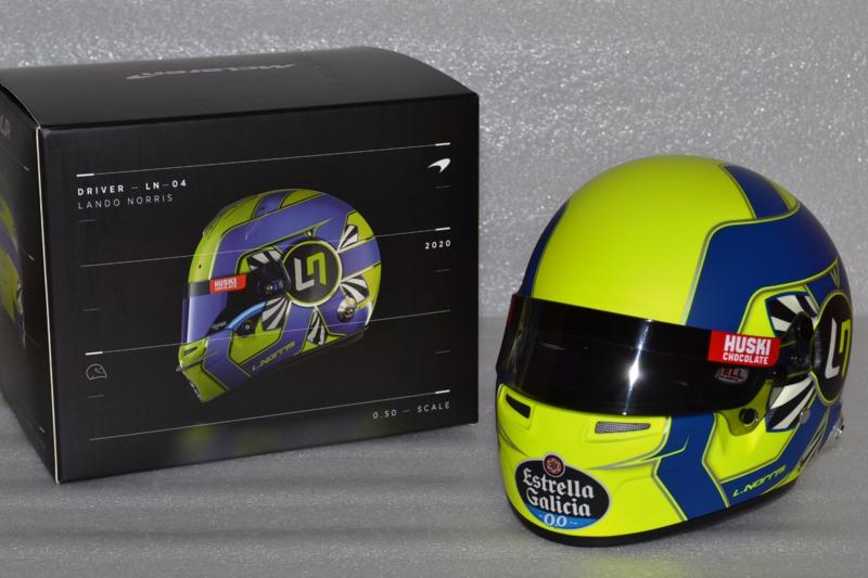 Lando Norris Mc Laren Renault helmet 2020 season