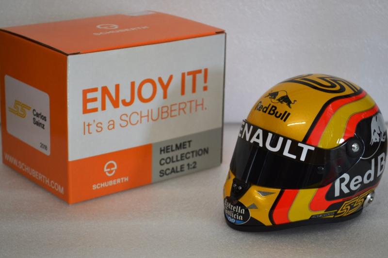 Carlos Sainz Renault F1 Team Helmet French Grand Prix 2018 season