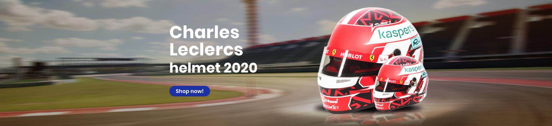 Charles Leclercs helmet 2020