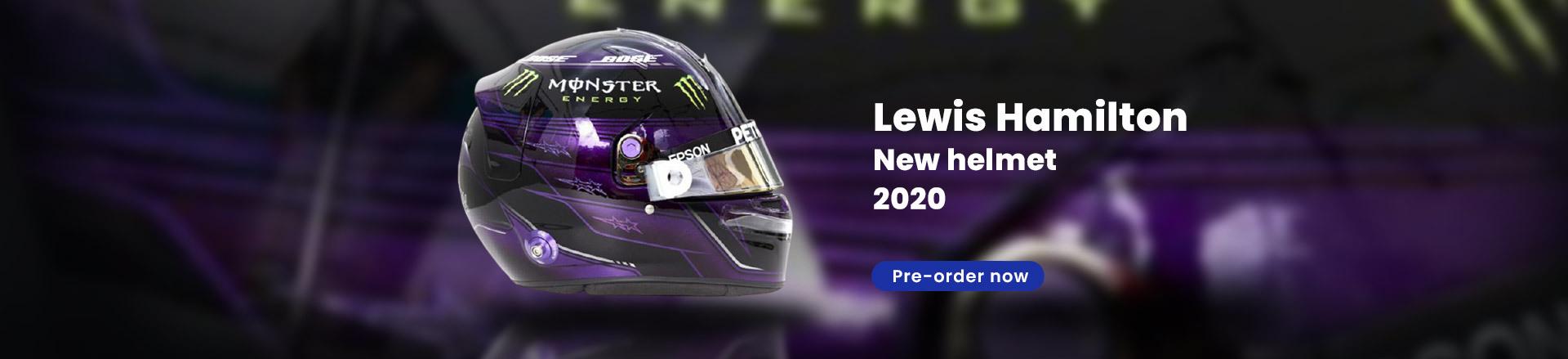 Lewis Hamilton Mercedes Helmet AMG 2020 - black purple