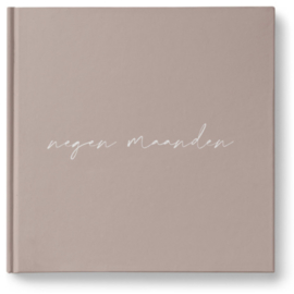 Negen maandenboek Blush linnen
