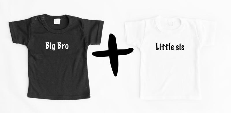 Combi Bro & Sis shirts korte mouw