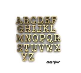 900 Y gouden letter met geboortesteentje