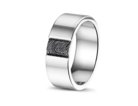 408 S zilveren ring met vingerafdruk