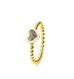 RG 001 gouden ring in hartvorm