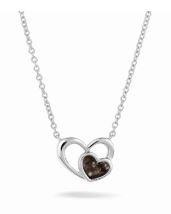 602 zilveren hartvorm hangertje met asruimte