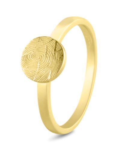 456 gouden ring met vingerafdruk