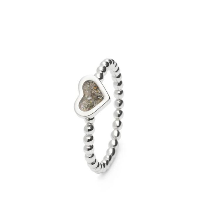 RG 001 zilveren ring hartvorm