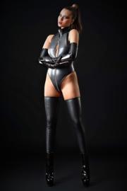 Sixtine faux lederen bodysuit