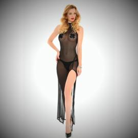 Poussy Cat mesh lange jurk