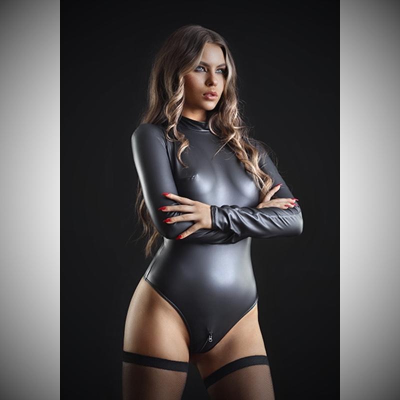 Natacha wetlook bodysuit