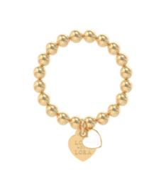 Ring goud hart wit