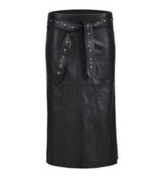 Rok Leather look met riem