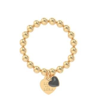 Lora di Lora ring gold Candy black