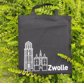 Katoenen tas Zwolle (met Sassenpoort en Peperbus)