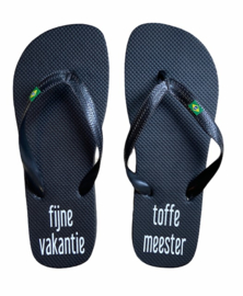 """Slippers """"Toffe meester"""""""
