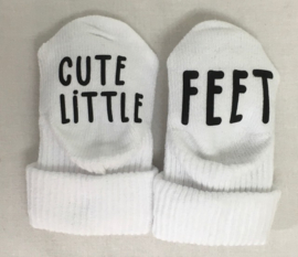 """Baby sokjes """"Cute little feet"""""""