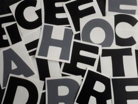 Letter- en cijferstickers