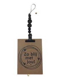Kralenhanger met houten kaart (met wens)