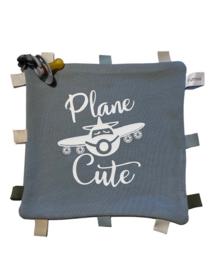 Labeldoekje met  Plane cute