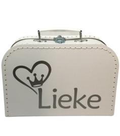 Koffertje met naam en afbeelding